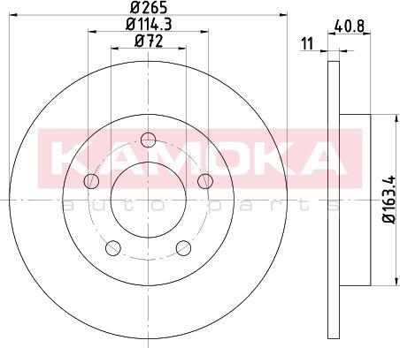 Kamoka 103179 - Bremžu diski interparts.lv