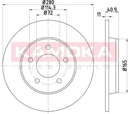 Kamoka 103178 - Bremžu diski interparts.lv