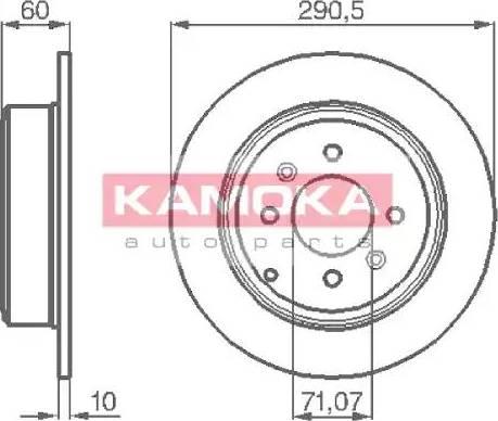 Kamoka 1031738 - Bremžu diski interparts.lv