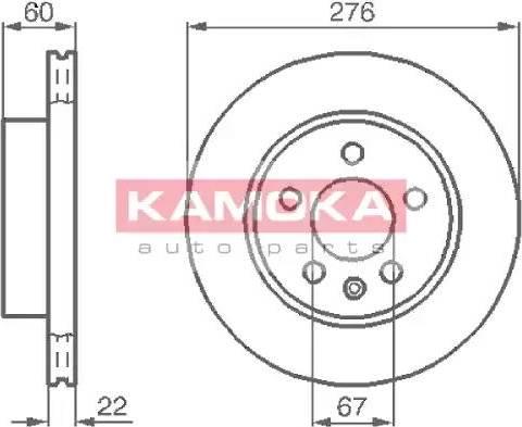 Kamoka 1031720 - Bremžu diski interparts.lv