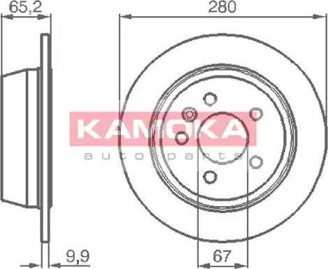 Kamoka 1031722 - Bremžu diski interparts.lv