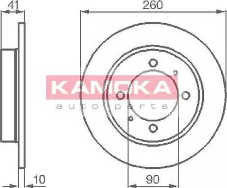 Kamoka 1031772 - Bremžu diski interparts.lv
