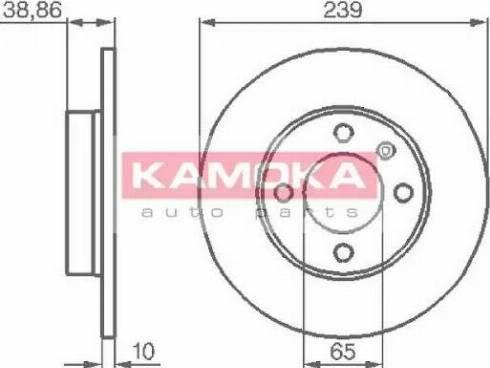 Kamoka 10384 - Bremžu diski interparts.lv