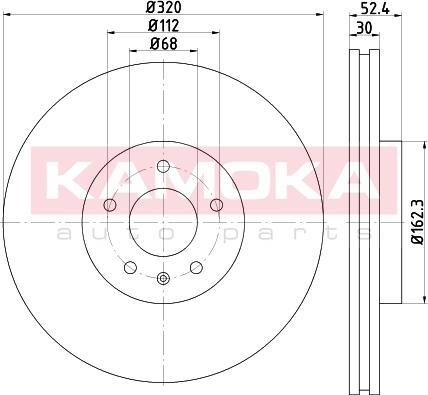 Kamoka 103309 - Bremžu diski interparts.lv
