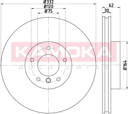 Kamoka 103301 - Bremžu diski interparts.lv
