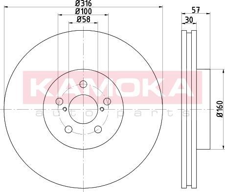 Kamoka 103303 - Bremžu diski interparts.lv