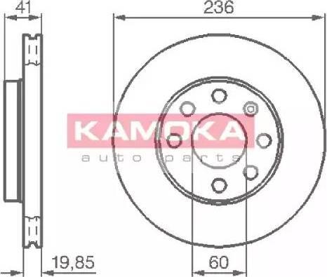 Kamoka 103302 - Bremžu diski interparts.lv