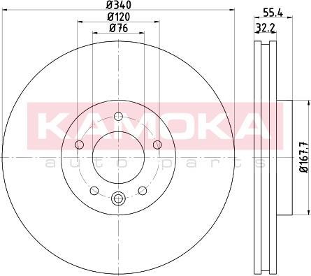 Kamoka 103319 - Bremžu diski interparts.lv