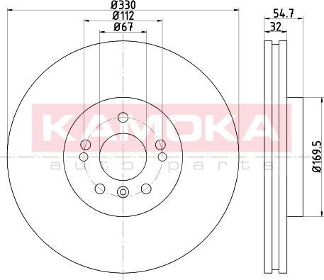 Kamoka 103317 - Bremžu diski interparts.lv