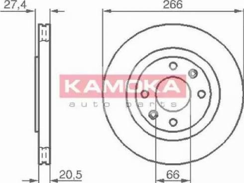 Kamoka 103384 - Bremžu diski interparts.lv