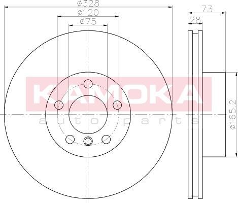 Kamoka 103295 - Bremžu diski interparts.lv