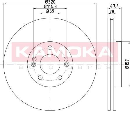 Kamoka 103296 - Bremžu diski interparts.lv