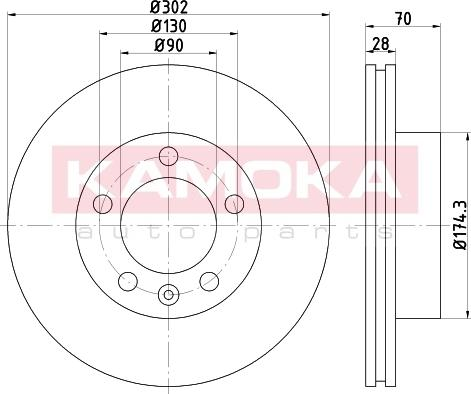 Kamoka 103293 - Bremžu diski interparts.lv