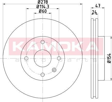 Kamoka 103249 - Bremžu diski interparts.lv