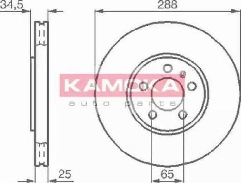 Kamoka 1032442 - Bremžu diski interparts.lv