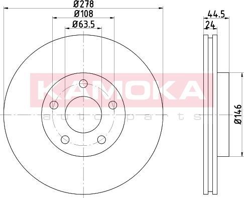 Kamoka 103245 - Bremžu diski interparts.lv