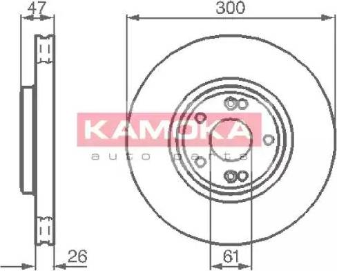 Kamoka 1032410 - Bremžu diski interparts.lv