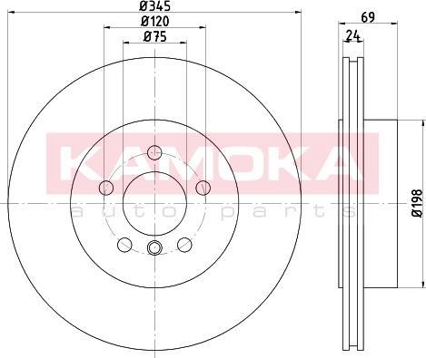 Kamoka 103248 - Bremžu diski interparts.lv