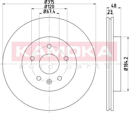 Kamoka 103242 - Bremžu diski interparts.lv