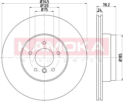 Kamoka 103247 - Bremžu diski interparts.lv