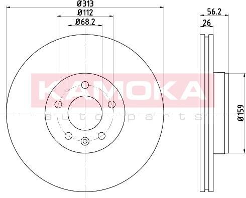 Kamoka 103259 - Bremžu diski interparts.lv