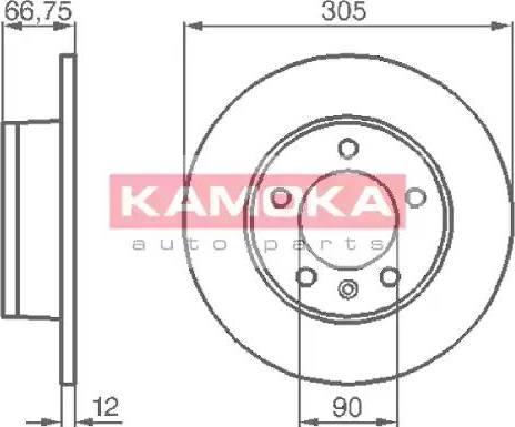 Kamoka 1032544 - Bremžu diski interparts.lv