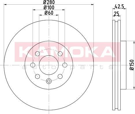 Kamoka 103254 - Bremžu diski interparts.lv