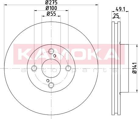 Kamoka 103255 - Bremžu diski interparts.lv