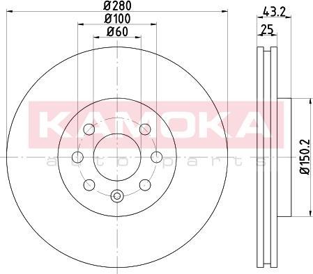 Kamoka 103258 - Bremžu diski interparts.lv