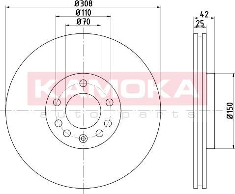 Kamoka 103253 - Bremžu diski interparts.lv