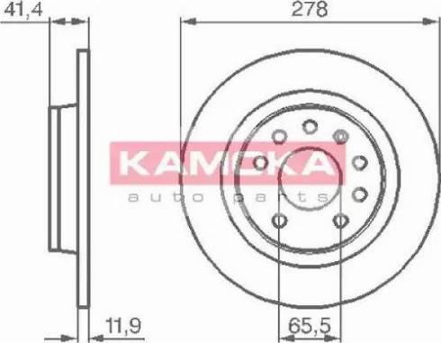 Kamoka 1032576 - Bremžu diski interparts.lv