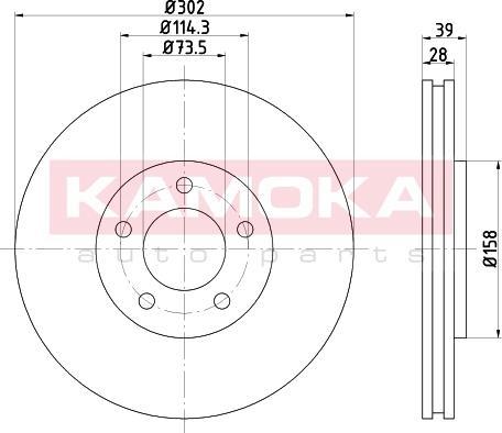 Kamoka 103269 - Bremžu diski interparts.lv