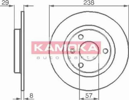 Kamoka 103264 - Bremžu diski interparts.lv
