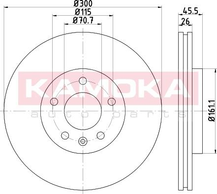 Kamoka 103265 - Bremžu diski interparts.lv