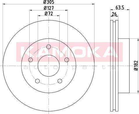 Kamoka 103260 - Bremžu diski interparts.lv