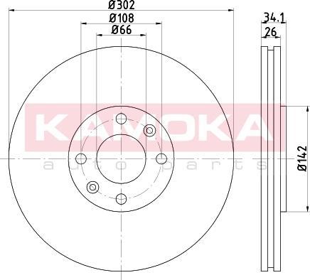 Kamoka 103261 - Bremžu diski interparts.lv