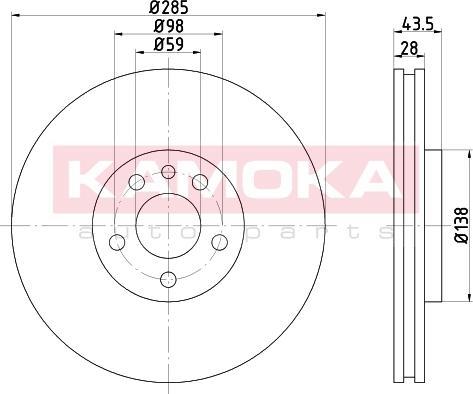 Kamoka 103268 - Bremžu diski interparts.lv