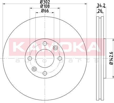 Kamoka 103263 - Bremžu diski interparts.lv