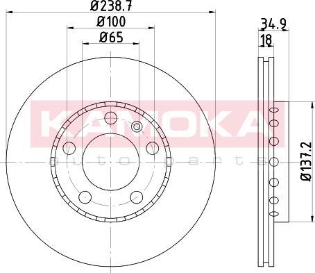 Kamoka 103205 - Bremžu diski interparts.lv
