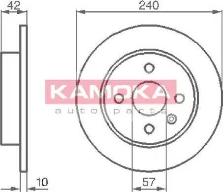 Kamoka 1032086 - Bremžu diski interparts.lv