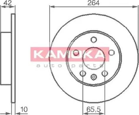 Kamoka 1032088 - Bremžu diski interparts.lv