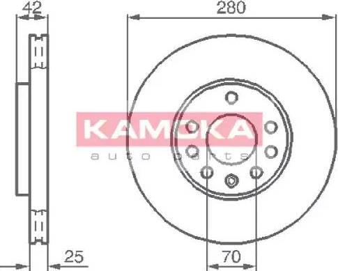 Kamoka 1032082 - Bremžu diski interparts.lv