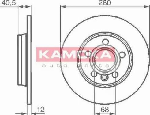 Kamoka 1032024 - Bremžu diski interparts.lv