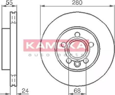Kamoka 1032020 - Bremžu diski interparts.lv