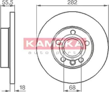 Kamoka 1032022 - Bremžu diski interparts.lv