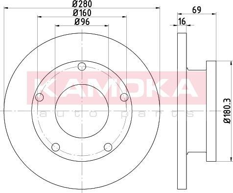 Kamoka 103202 - Bremžu diski interparts.lv