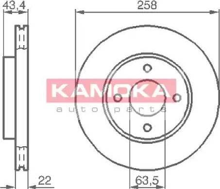 Kamoka 1032144 - Bremžu diski interparts.lv