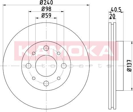 Kamoka 103215 - Bremžu diski interparts.lv