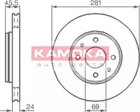 Kamoka 1032136 - Bremžu diski interparts.lv