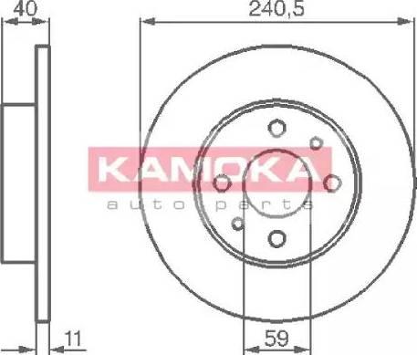 Kamoka 103280 - Bremžu diski interparts.lv
